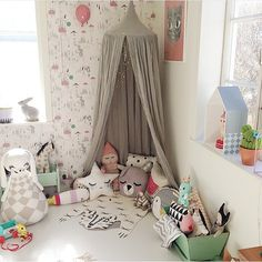 Kids corner, play canopy, fantastic kids decor by willieandm Baby Bedroom, Girls Bedroom, Canopy Bedroom, Bedroom Decor, Toy Rooms, Kids Rooms, Toddler Rooms, Kids Room Design, Kid Spaces