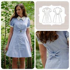 Deer and Doe - Bleuet Dress, available at http://boutique.deer-and-doe.fr/3-sewing-pattern-bleuet-dress.html