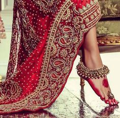Security Check Required Indian wedding payal jhanjhar lovely such a beautiful thing for women anklets ! Indian Dresses For Women, Vestido Dress, Anklet Designs, Indian Fashion, Womens Fashion, Bridal Fashion, Fashion Outfits, Insta Look, Mehendi