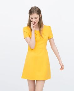 warm bright yellow dress | ZARA summer 2015 #springtype #lentetype