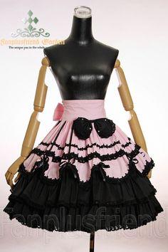 gothic lolita | colors : pink, black