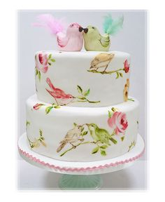 A Hertfordshire boutique cake making company and the home of the painted cake. Specialising in unique painted cakes, cookies and cupcakes. Gorgeous Cakes, Pretty Cakes, Amazing Cakes, Bird Cakes, Cupcake Cakes, Flower Cakes, Divorce Cake, Watercolor Wedding Cake, Watercolor Bird