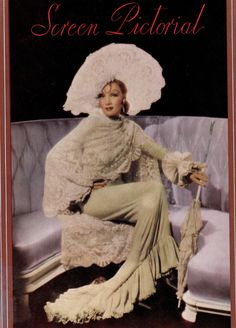 Marlene Dietrich The Devil is a Woman very rare colour clipping Travis Banton costume