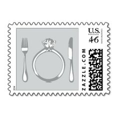 Wedding Postage Stamp | Eat, Drink & Be Married
