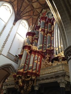 St. Bavo church in Haarlem. This organ was once played by Hayden, and a young Mozart.