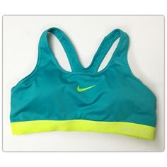 Nike Dri-Fit Aqua Sports Bra Nike Dri-Fit Aqua Sports Bra. Size Large - Fits true to size! Includes molded cups for modesty. This sports bra is in excellent preowned condition. Make an offer today! Nike Intimates & Sleepwear Bras