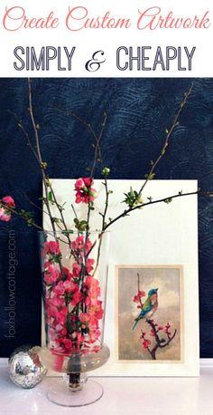 Spring Mantel: Diy custom art, HomeGoods apothecary jar and mercury glass accessorizes. #homedecoratingideas #homegoodshappy