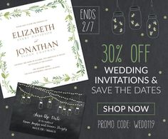 Spread the Love with 30% off Wedding Invitations & Save the Dates from PrintsWell!