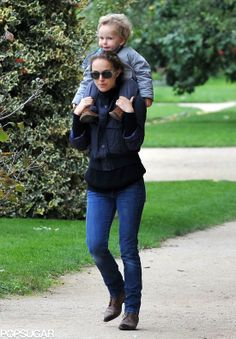 Natalie Portman took Aleph to the Tuileries Gardens in Paris