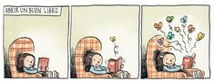 Liniers y Enriqueta reflexionan sobre el placer de la lectura