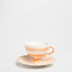 Hand-painted stripes coffee cup and saucer - Three weeks ago - New Arrivals | Zara Home Greece
