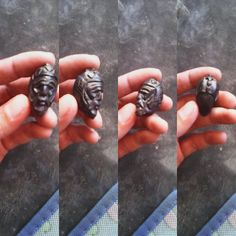 Carved seed pendant