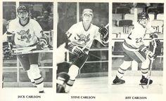 Carlson Brothers with Minnesota Fighting Saints.