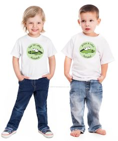 See you later alligator - After a while crodile! Cute baby tees, onepieces, toddler shirts for twins See You Later Alligator, Baby Layette, Baby Images, Crocodile, Cute Babies, Onesies, Twins, Infant, Rompers