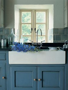 farmhouse sink. I could live with that blue although it isn't my first choice.