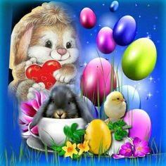 """funny picture """"Soon is Easter.jpg - One of 381 files in the category & # Easter & # Easter Art, Easter Crafts, Easter Eggs, Ostern Wallpaper, Easter Bunny Pictures, Images Wallpaper, Easter Quotes, Holiday Pictures, Vintage Easter"""