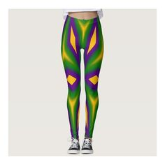 Mardi Gras Star 3598 Leggings ($67) ❤ liked on Polyvore featuring pants, leggings, colorful pants, multi color pants, multi coloured leggings, star print leggings and star leggings