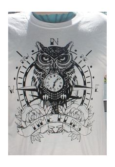 owl and pocket watch traditional tattoo by JackalopeClothing