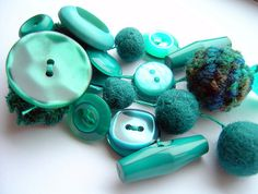turquoise button pin