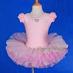 Puff-Sleeves-Fluffy-Ballet-Tutu-Ballerina-Dance-Costume-Fancy-Dress-Size-3-8-048