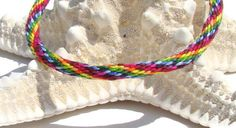 Rainbow pattern friendship kumihimo by SweetEscapeBracelets, $4.99