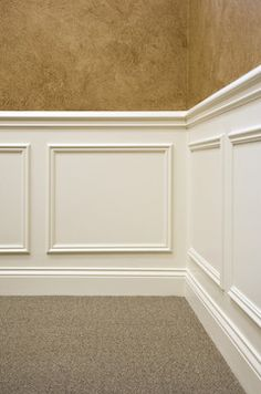 What is the name of the panel molding used for the shadow box Moulding And Millwork, Floor Molding, Panel Moulding, Wall Molding, Crown Molding, Window Over Sink, Tyni House, Wainscoting Styles, Faux Wainscoting