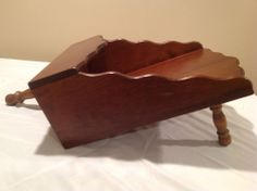 Antique Wooden Magazine Rack Or Mail Stand