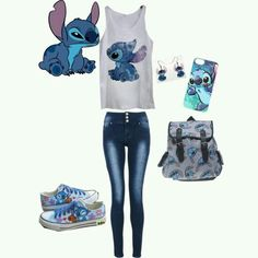 Lilo y Stitch Disney Stich, Cute Stitch, Lilo Stitch, Stitch Shirt, Mode Cool, Teen Fashion, Fashion Outfits, Disney Fashion, Estilo Cool