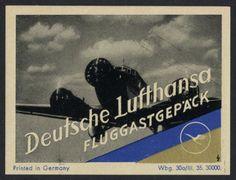 Kofferaufkleber / Deutsche Lufthansa