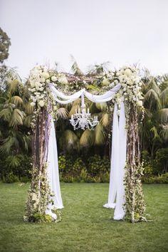 Vintage Santa Barbara Garden Wedding