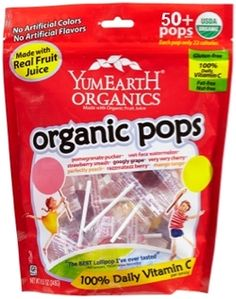 17 carbs, good for sick days (no tummy involvement and no couch popsicle fiascos) - YumEarth Organics Lollipops $10.49 - from Well.ca