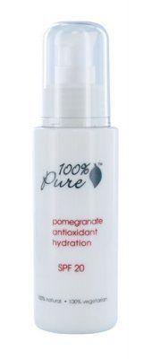 100% Pure Cosmetics - Organic Pomegranate Antioxidant Hydration Spf 20, 2 fl oz lotion by 100% Pure, http://www.amazon.com/dp/B000YBV4GO/ref=cm_sw_r_pi_dp_6WOTpb03M1D56