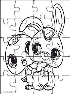 Printable jigsaw puzzles to cut out for kids Littlest pet shop 25 Coloring Pages