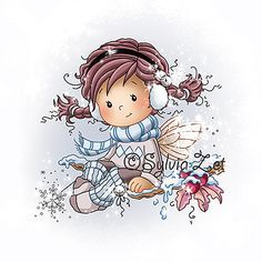 Sylvia Zet: Holly as a digi image is available now. She will be released at Whimsy stamps in September