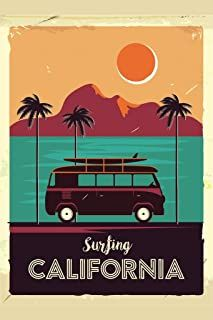 International Shopping: Shop Sports and Outdoor products that ship Internationally Surf California Coastline Vintage Van Palm Trees Cool Wall Decor Art Print Poster 24 x 36 Vintage Surfing, Surf Vintage, Retro Vintage, French Vintage, Vintage Designs, Retro Kunst, Retro Art, Retro Room, Modern Retro
