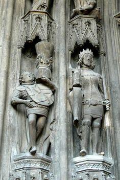 Sculpture in St Stephen's Cathedral, Vienna, Austria (1350-1400)