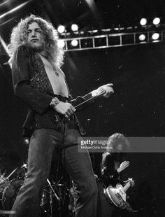 Rock band 'Led Zeppelin' performs onstage at the Forum on March 24, 1975 in Los Angeles, California.