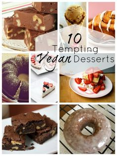 10 Tempting Vegan Desserts. There are some great allergen-free options here.