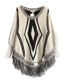 Bat-wing Sleeves Tassel Hem Knitwear