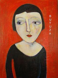 Swiss Artist Painter   Painted by Cathy Butuza #outsiderart #artbrut #facesart