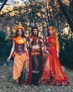 Eat your heart out, Sanderson Sisters! Eat your heart out, Sanderson Sisters! Faerie Costume, Elf Costume, Halloween Costumes, Fairy Costumes, Woodland Fairy Costume, Olaf Halloween, Costume Makeup, Renaissance Festival Costumes, Elf Cosplay