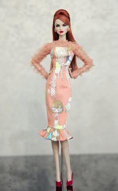Vestido de la realeza de la moda Poppy Parker Silkstone por Rimdoll