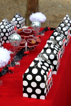 A mod red, black and white party!