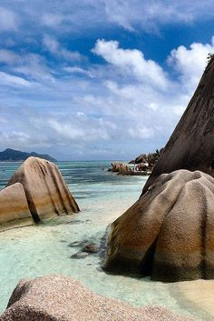 The Seychelles Islands in the Indian Ocean