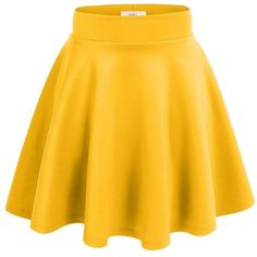 Floral skater skirt ❤ liked on Polyvore featuring skirts, flared skirts, yellow circle skirt, flared floral skirt, floral knee length skirt and floral skirt