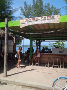 Beachbar Sama Sama. Gili Trawangan, Pergola, Outdoor Structures, Travel, Viajes, Outdoor Pergola, Destinations, Traveling, Trips