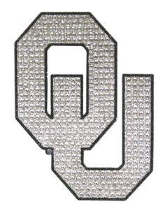 Oklahoma Sooners Auto Emblem - Rhinestone Bling