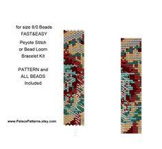 Beading Kit for Size 8/0 Miyuki Seed Beads - Bead Loom or Peyote Stitch Beadweaving Bracelet Kit - Fast and Easy - 8Bead217 Kit by PalacePatterns on Etsy