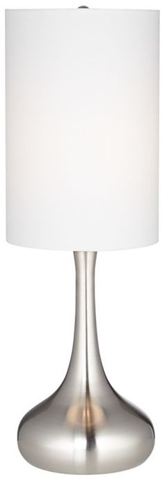 Modern Steel Droplet with Cylinder Shade Table Lamp -