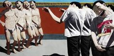 위에민준 / 처형 / oil on canvas / 150x300cm / 1995
